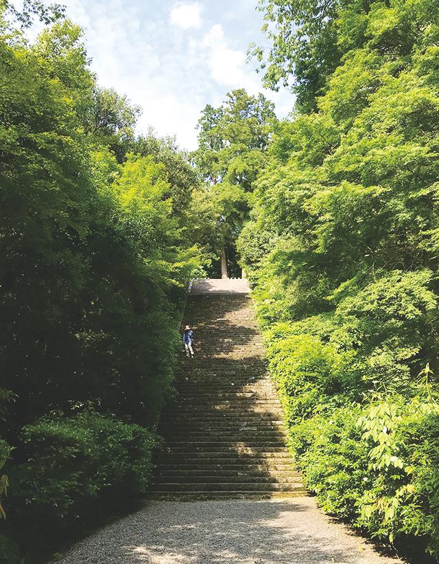 崇徳天皇のお墓前の階段